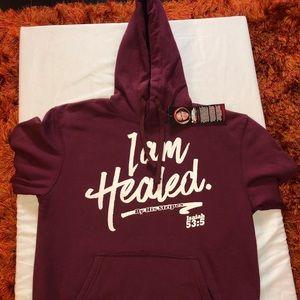 I Am Healed Maroon Hoodie